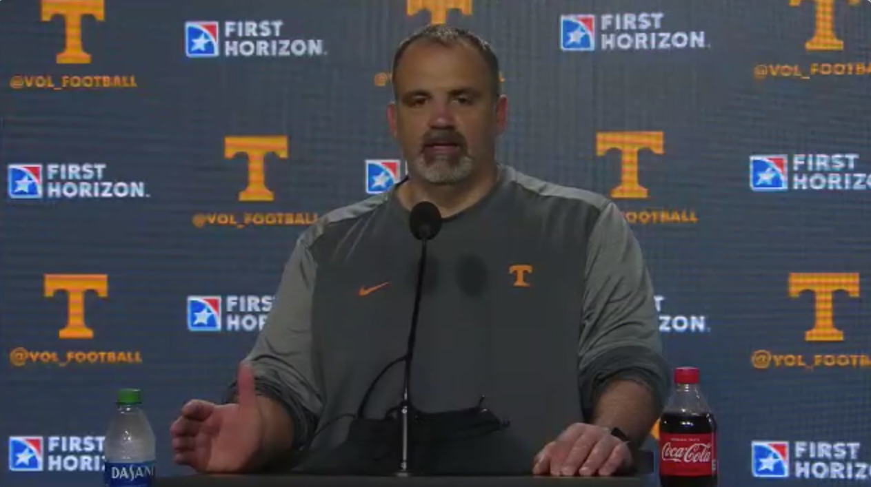 "WATCH: Vols OL Coach Glen Elarbee ""Players control their own destiny creating the starting five"""