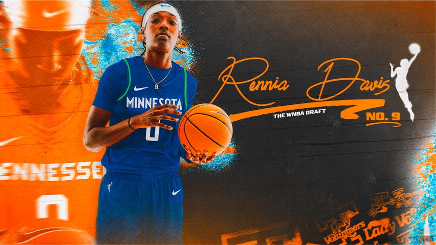 WATCH: Minnesota picks Davis 9th in WNBA Draft; List of Lady Vols in WNBA