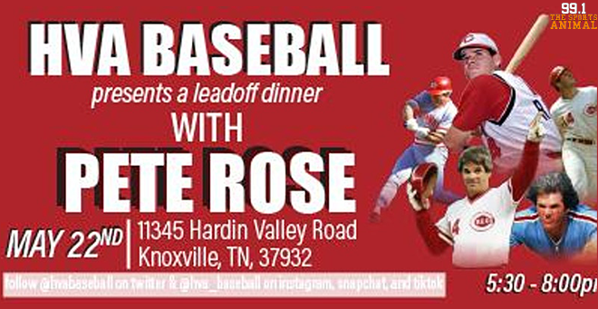 A Night with Pete Rose at Hardin Valley
