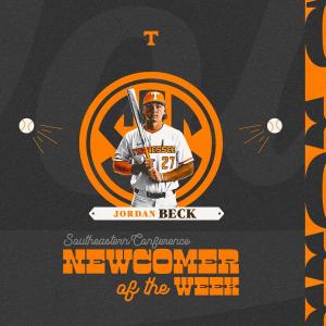 Jordan Beck Named SEC Co-Newcomer of the Week