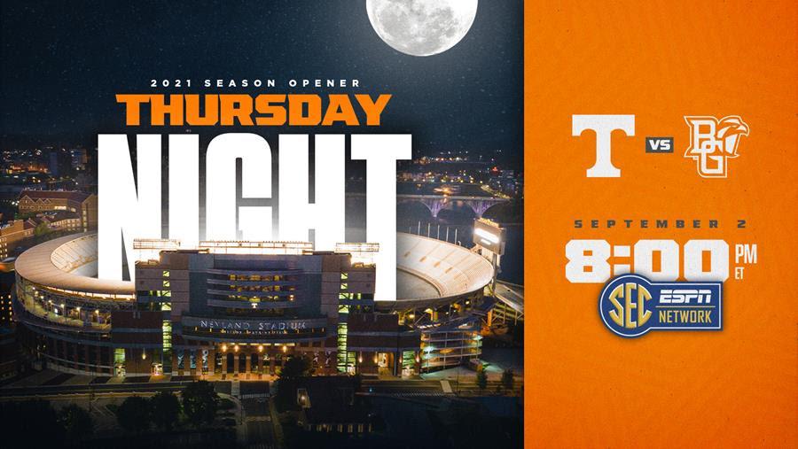 Heupel Era Opener Set For Sept. 2 SEC Network Thursday Primetime