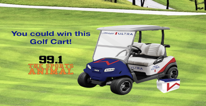Michelob Ultra Golf Cart Giveaway!