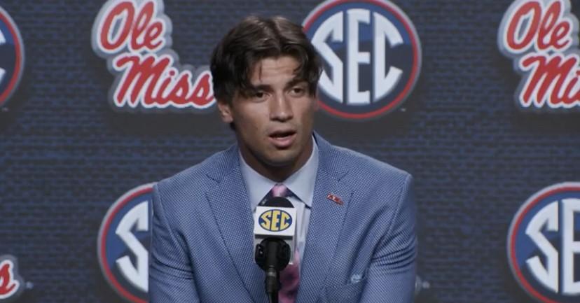 WATCH: Matt Corral talks Ole Miss at SEC Media Days