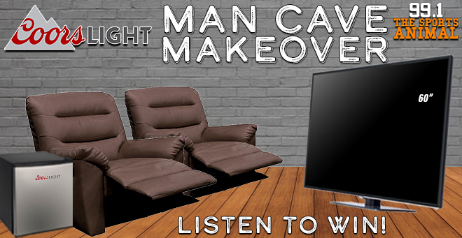 Coors Light Man Cave Makeover