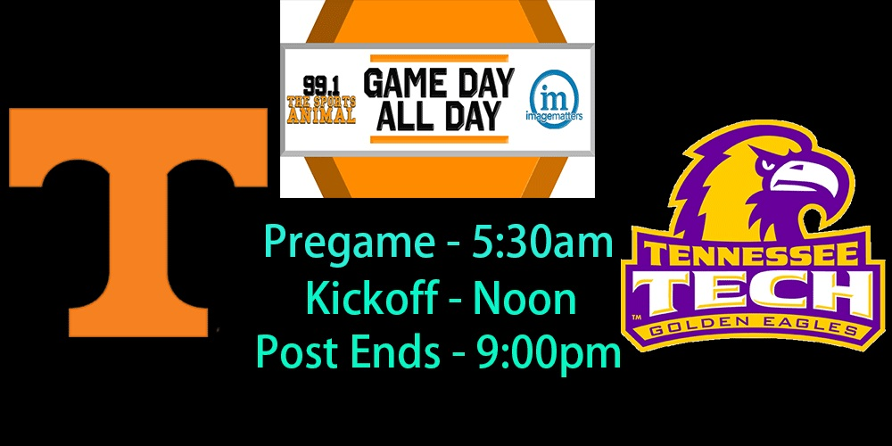 15+ hours of UT vs. TN Tech coverage on Image Matters Game Day All Day; See show schedule