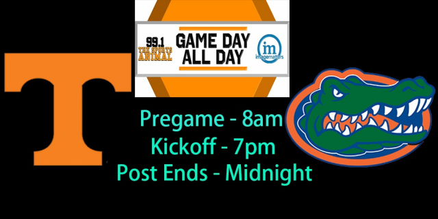 16 hours of Vols vs. Gators coverage on Image Matters Game Day All Day; See show schedule