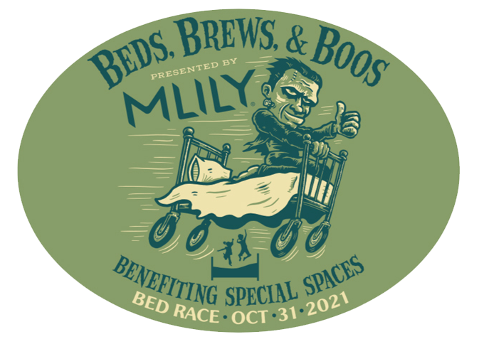 Beds, Brews, &  Boos Bed Race to benefit Special Spaces