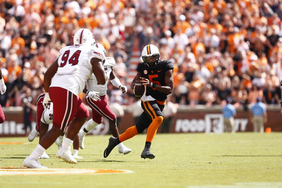Vols Strike Early, Cruise Past Gamecocks, 45-20