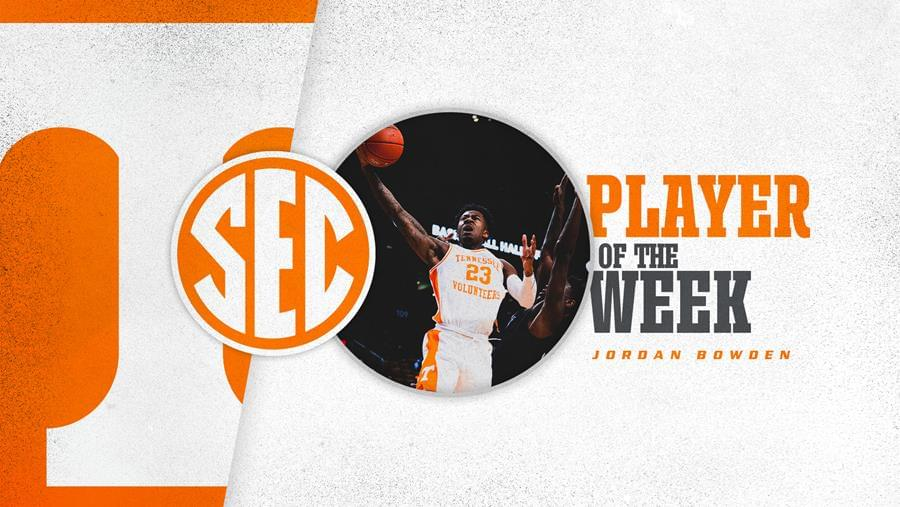 Hot-Shooting Bowden Named SEC Player of the Week