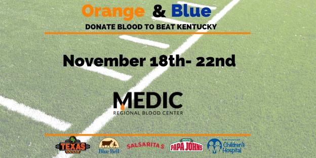 Orange and Blue Blood Drive is Underway