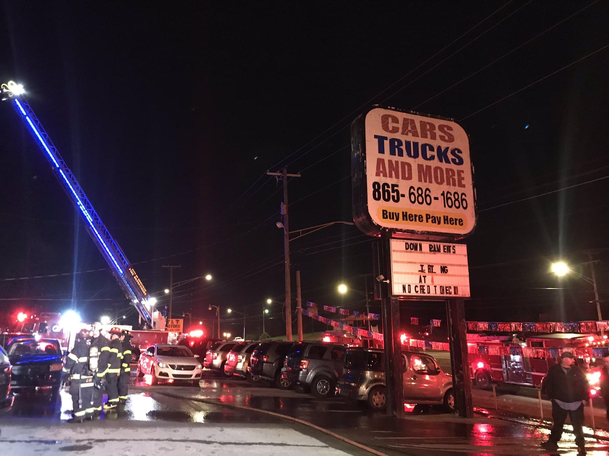 Knoxville Autoshop a Complete Loss in Fire