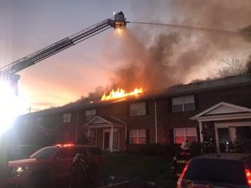 Knoxville Fire Department Work Massive Apartment Fire