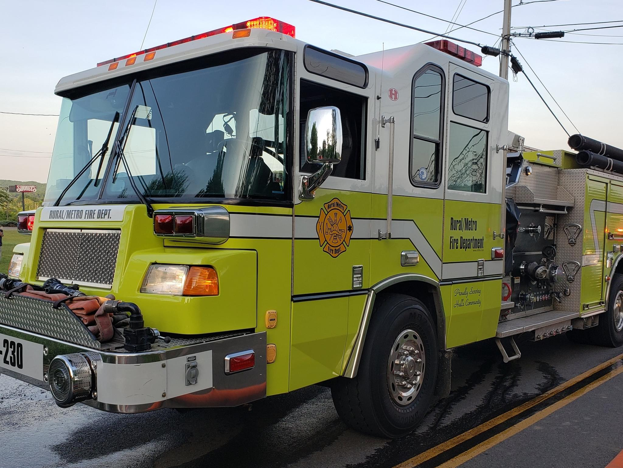 Rural Metro Responds to Fire on Gov. John Sevier Hwy