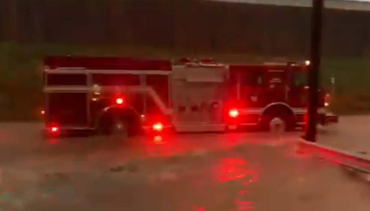 Water Rescue on Papermill Dr During Heavy Rains Tuesday