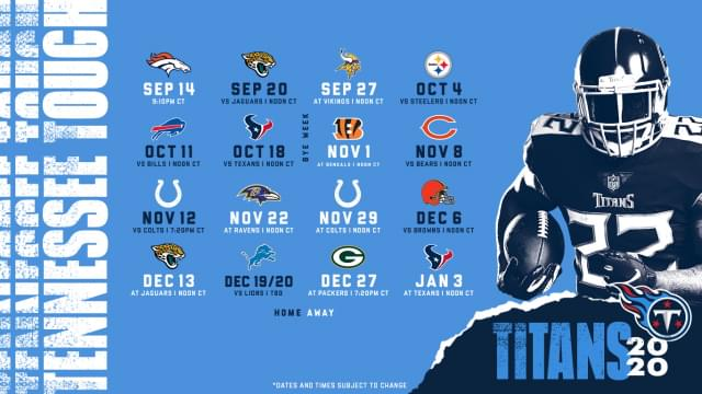 Tennessee Titans Schedule and News
