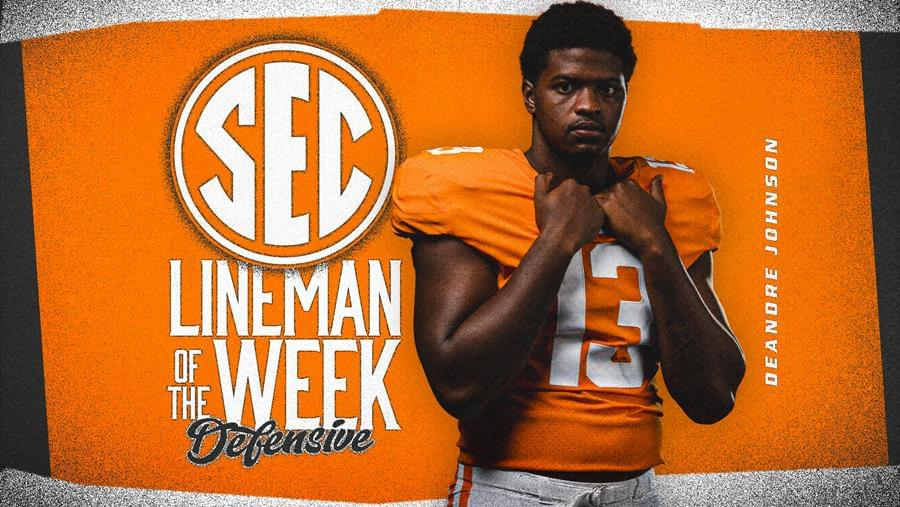 Johnson Named SEC Defensive Lineman of the Week