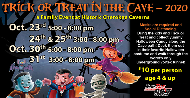 Trick or Treat in the Cave at Cherokee Caverns