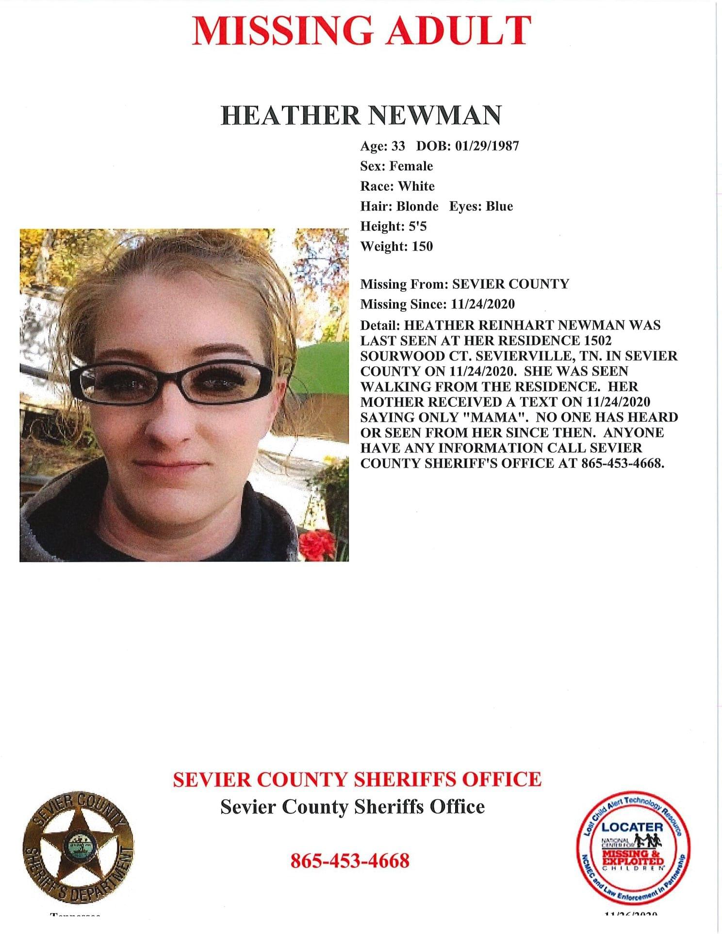 Sevier County Police Asking for Help to Find Missing Woman
