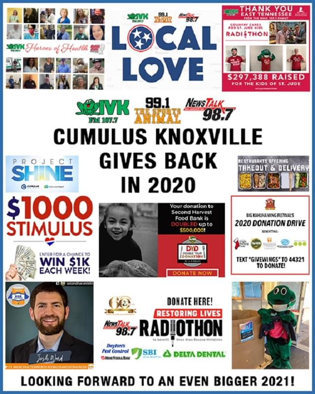 Cumulus Knoxville Gives Back In 2020