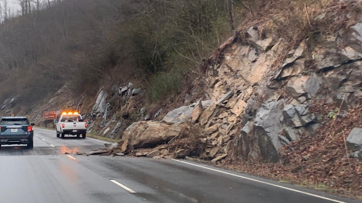 National Park Crews Working to Clear Rockslide Near Norton Creek in Smokies
