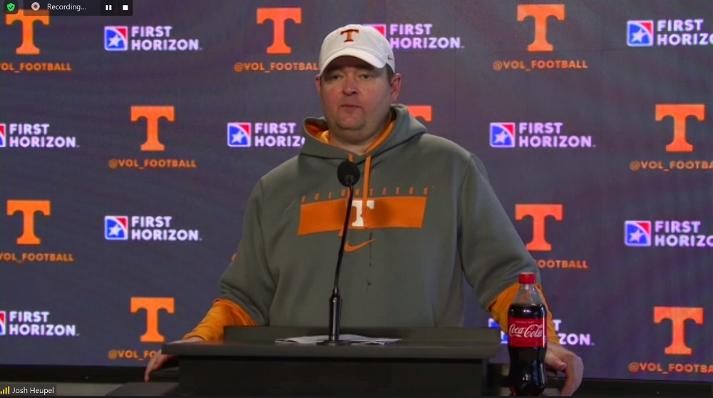 """WATCH: Heupel after practice 5 """"They've been phenomenal in the meeting room"""""""
