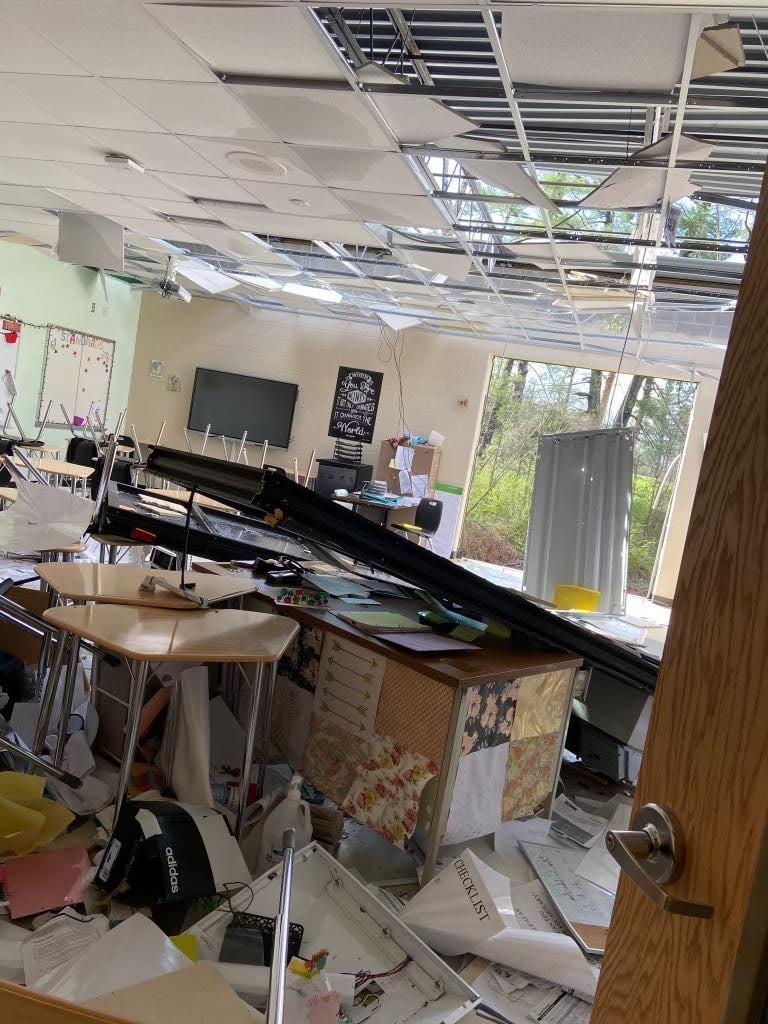 EF-0 Tornado Hits Cumberland County Damages Elementary School