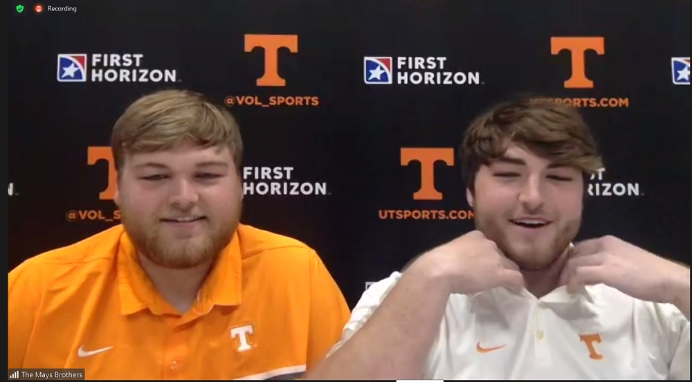 WATCH: Cade and Cooper Mays talk teammates, playing together, coaches, DL standouts