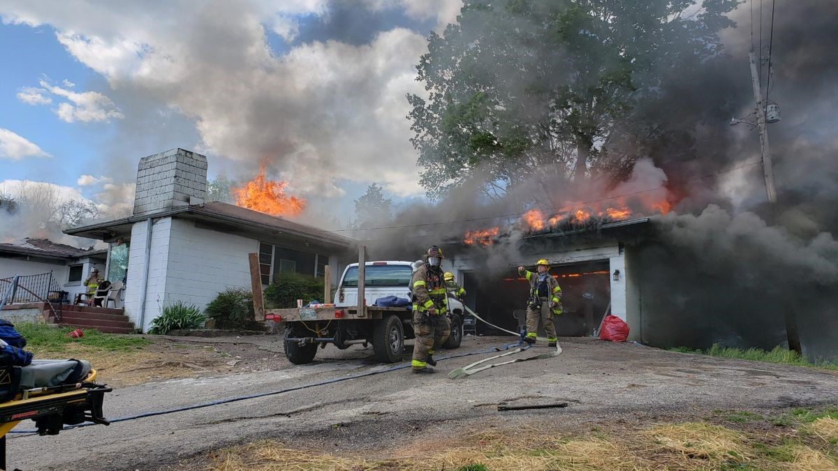 Rural Metro Fire Fighter Injured Battling House Fire