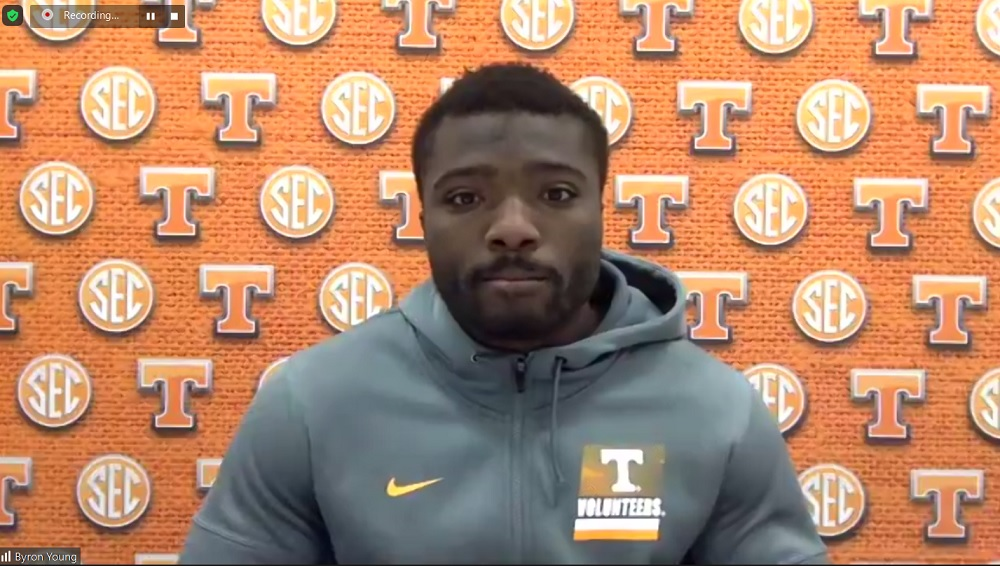 WATCH: Byron Young talks tough past, coming to UT, freedom he has on defense, much more