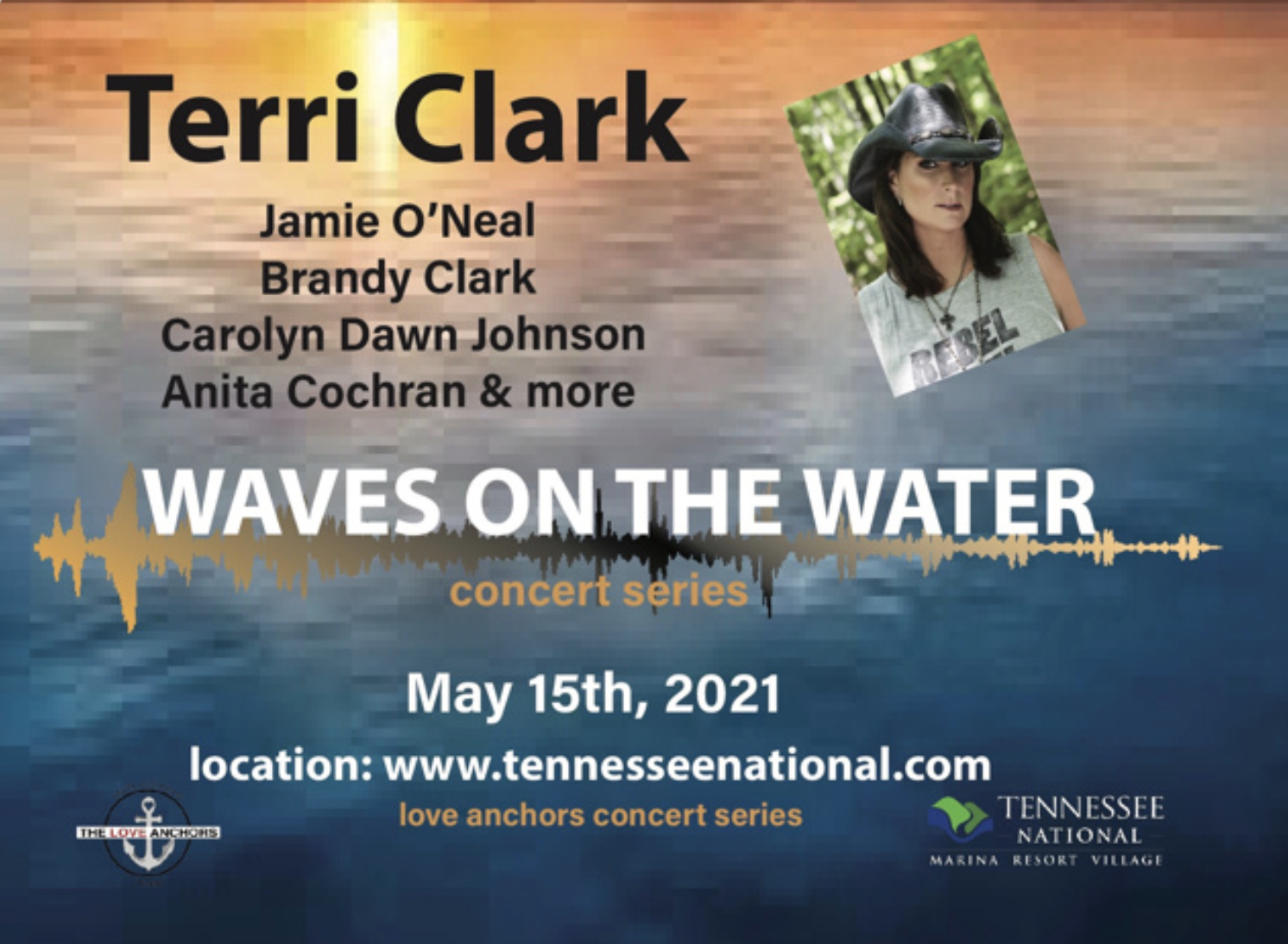 Register to Win Tickets to Waves on the Water with Terri Clark