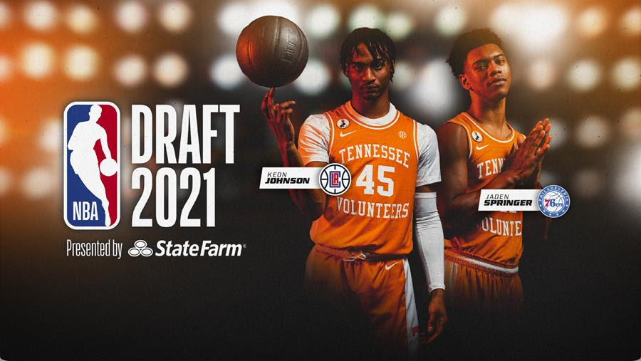 Johnson, Springer Selected in First Round of NBA Draft