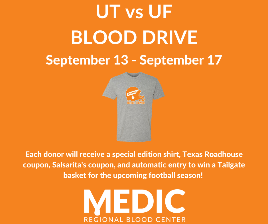 UT vs. Florida Blood Drive is Locally Supporting Medic
