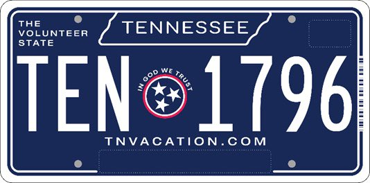 Tennessee Announces New License Plate
