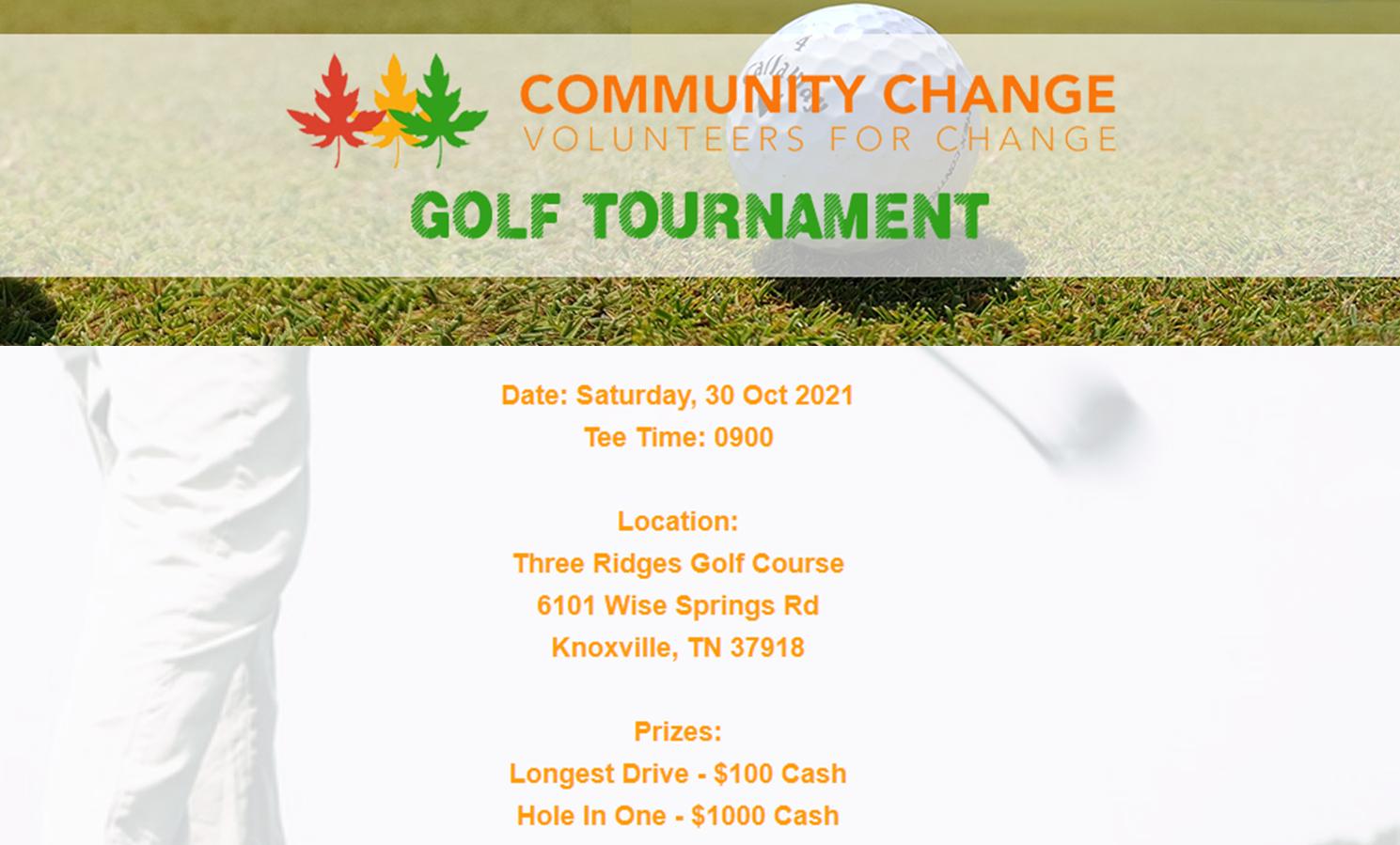 Community Change Foundation Golf Tournament