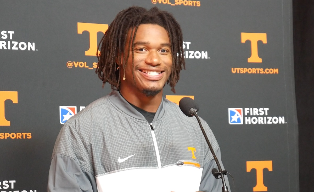 """WATCH: Velus Jones Jr. """"We're truly blessed to be at Tennessee and playing for this program and our fan base. It's amazing."""""""