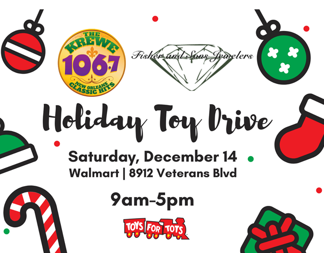 106.7 The Krewe Holiday Toy Drive