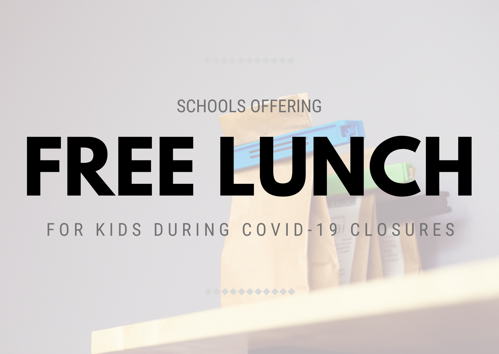 List of Free Lunch Site during COVID-19 School Closures