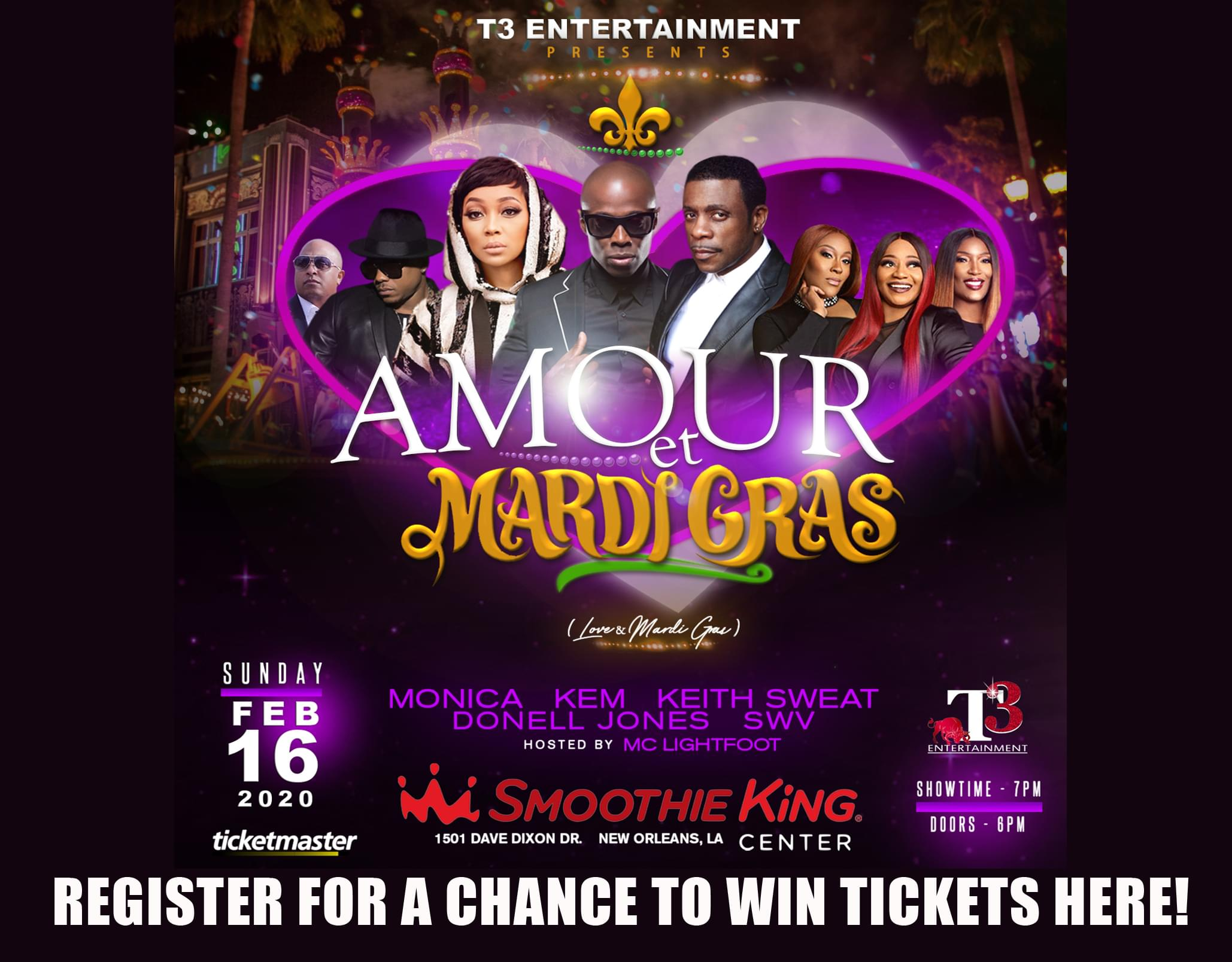 Enter to WIN Amour et Mardi Gras Tickets