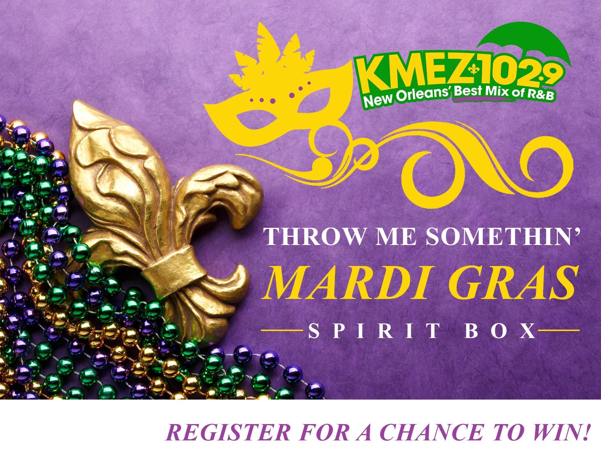 KMEZ 102.9's Mardi Gras Spirit Box Giveaway!
