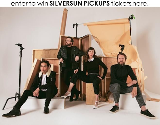 Enter to WIN Silversun Pickups Tickets