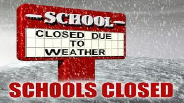 Updated list of Tuesday school closures