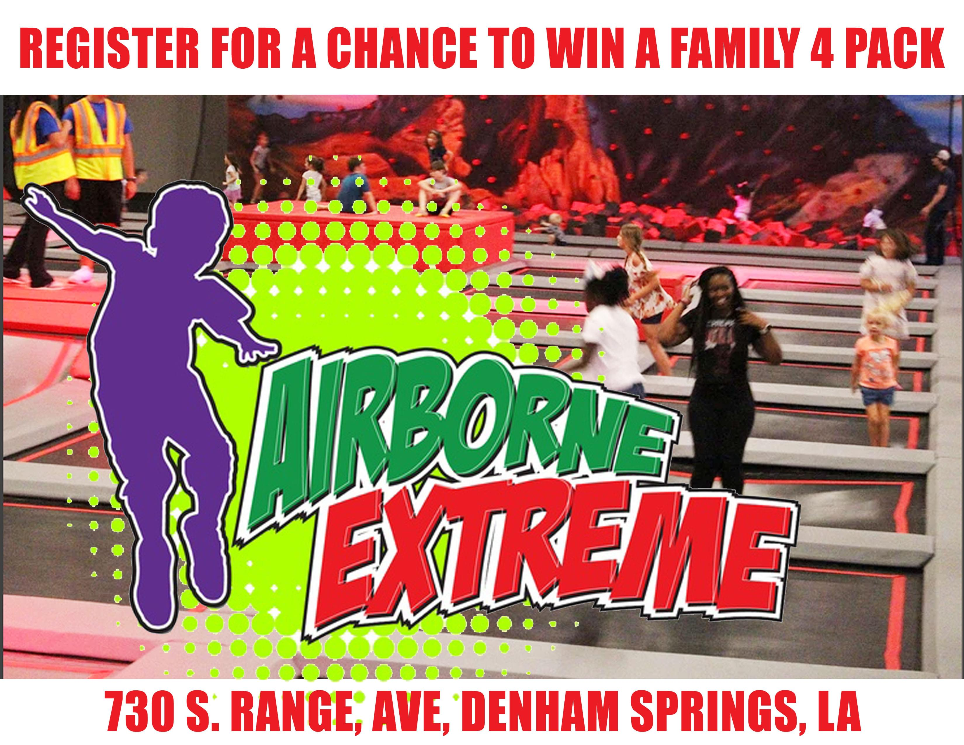 Win Airborne Extreme Trampoline Park Family 4-Pack