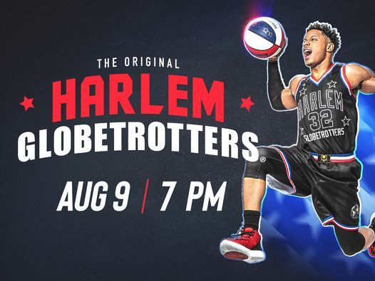 Register to win a 4 pack of tickets to the Harlem Globetrotters Aug 9!
