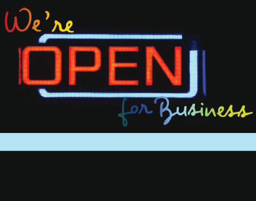 We're Open for Business! Find out who else it too!