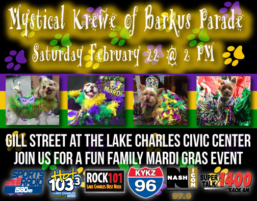 KYKZ 96 Mystical Krewe of Barkus 2020!