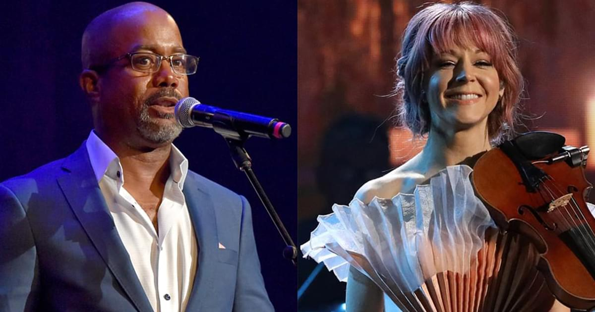 "Watch Darius Rucker & Violinist Lindsey Stirling Perform ""What Child Is This"" at ""CMA Country Christmas"""