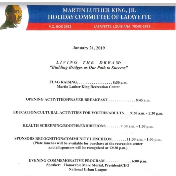 Martin Luther King, Jr., Holiday Activities