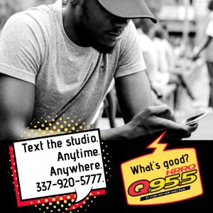 Q955 Studio Text Line 337-920-5777