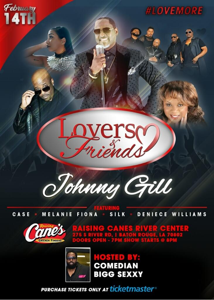 Johnny Gill At The Raising Canes River Center