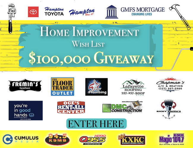 $100,000 Home Makeover Wish List Contest Rules